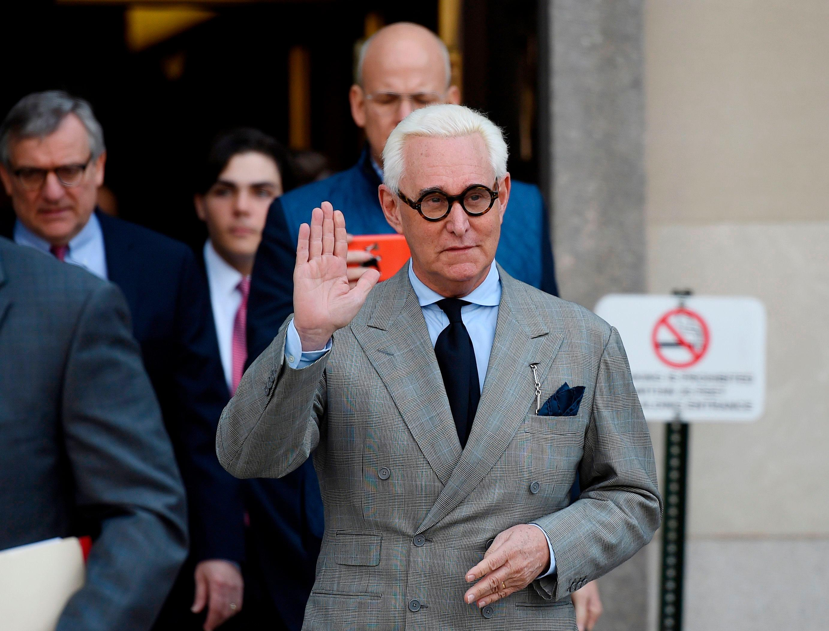 Trump calls for Roger Stone's conviction to be thrown out