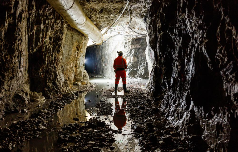 Stanley lister mining engineer inside the Cononish Gold and Silver mine near Tyndrum in the central Highlands of Scotland
