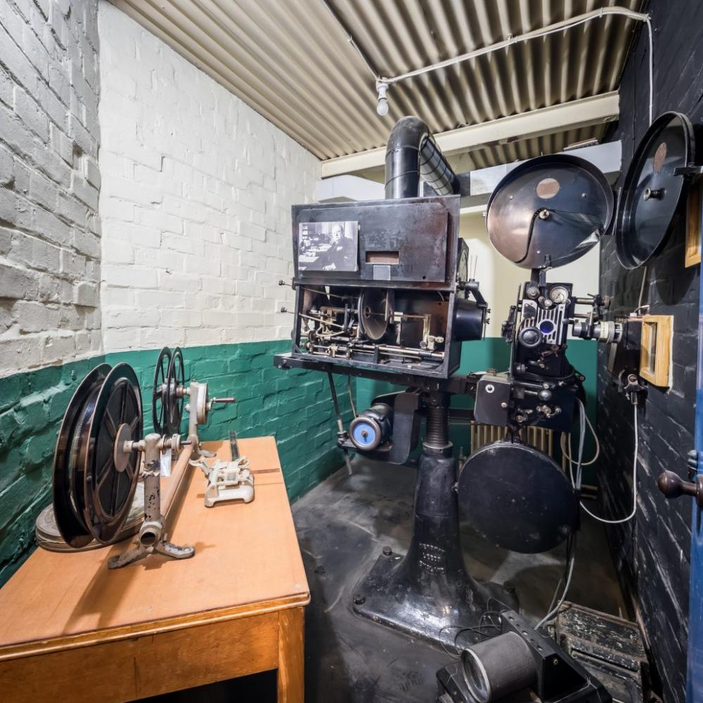 The cine files … film projector at Western Approaches, Liverpool War Museum