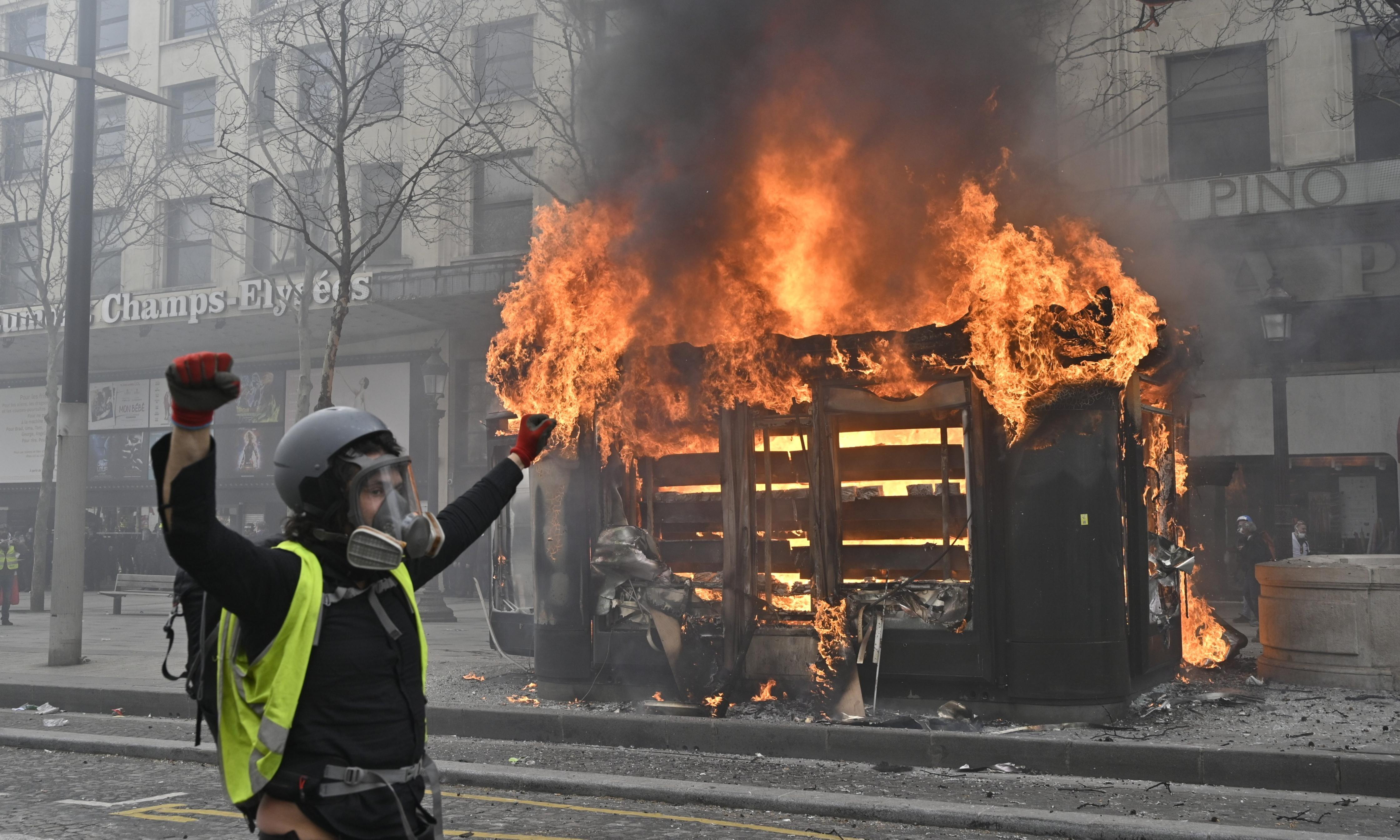 When protesters burned news kiosks in Paris, I had to take a stand…