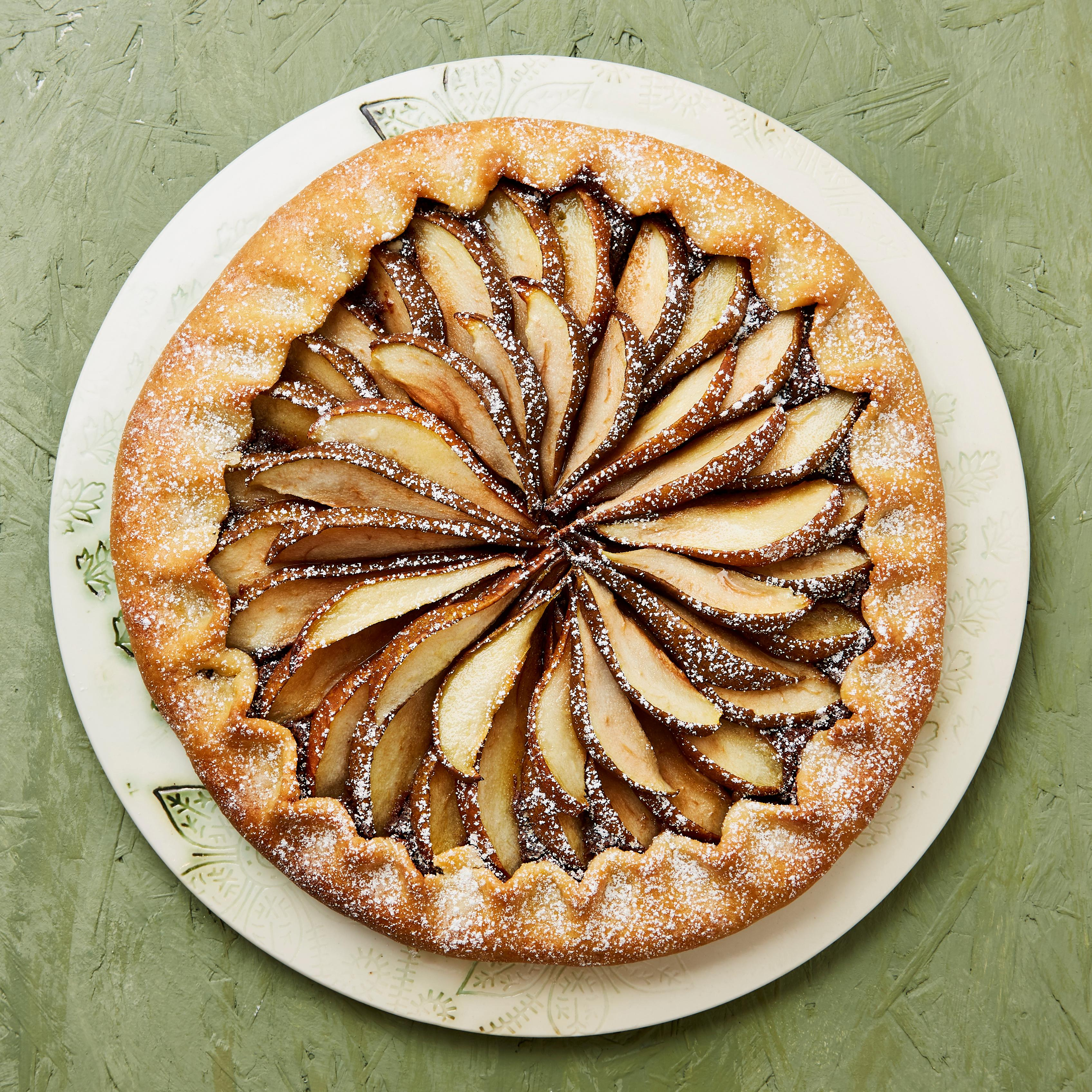 Meera Sodha's vegan recipe for pear, chocolate and almond galette