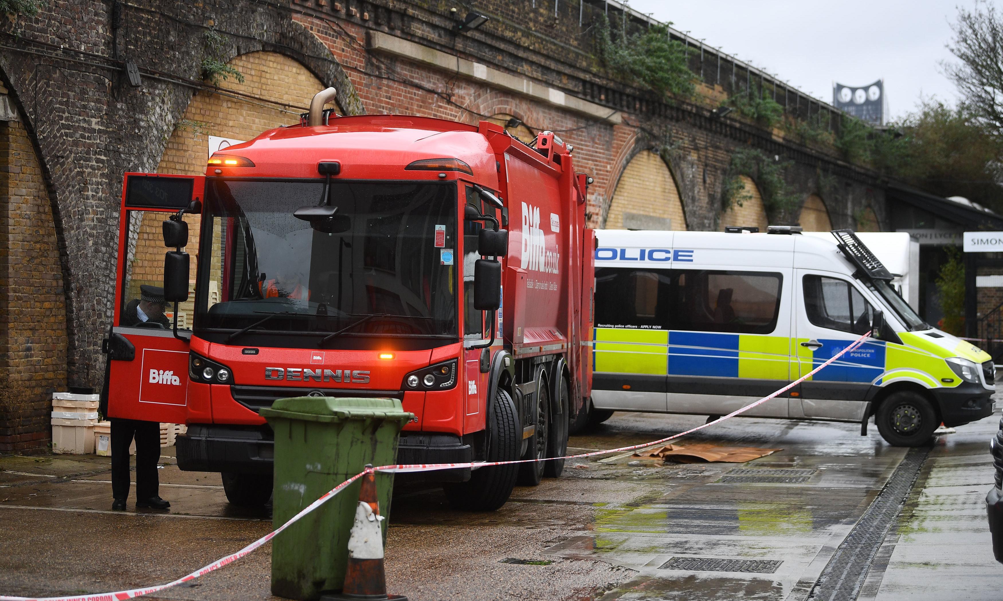 Man found dead in back of bin lorry in south London