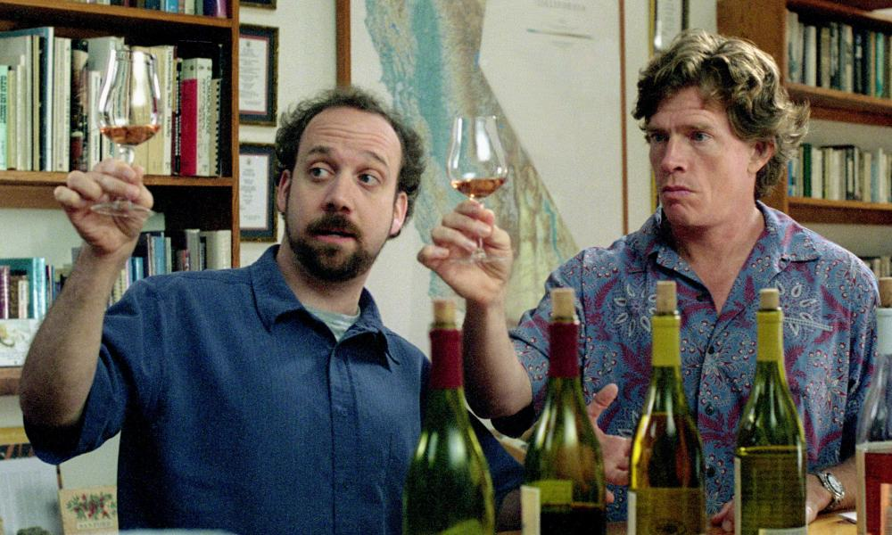 Paul Giamatti (L) and Thomas Haden Church in the 2004 film Sideways