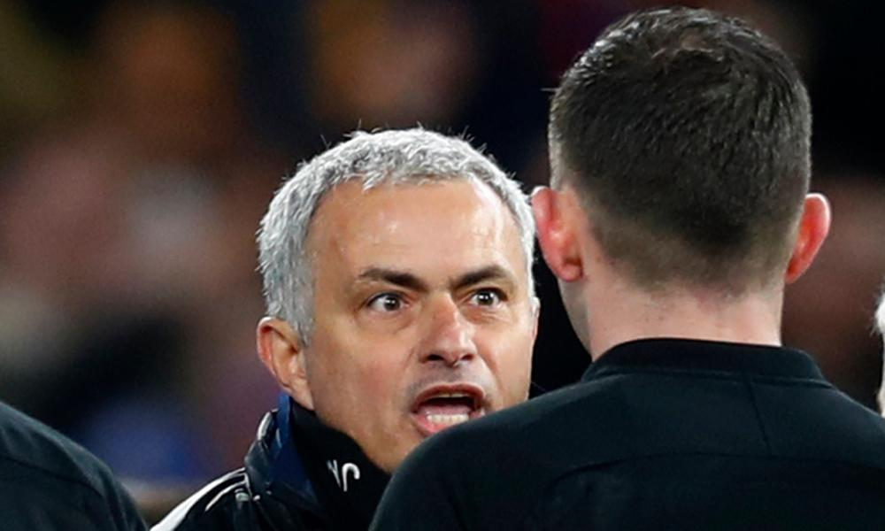 José Mourinho said he only went to offer Michael Oliver 'many congratulations' after making a beeline for the referee at the final whistle.