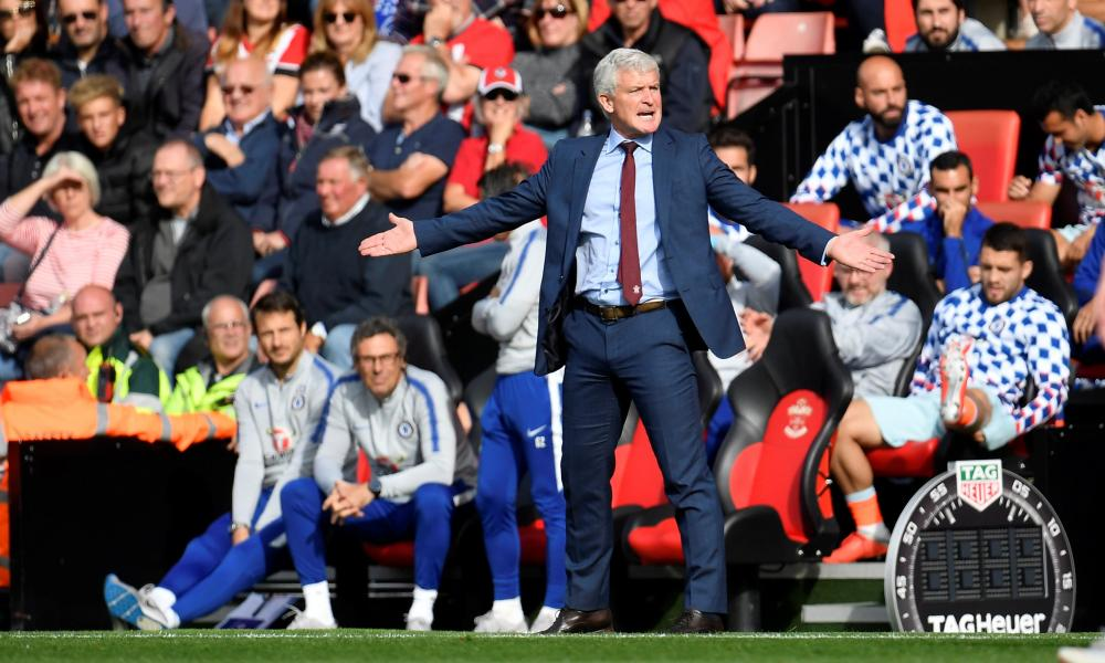 Southampton were in the relegation zone when they sacked Mark Hughes. They finished 16th.