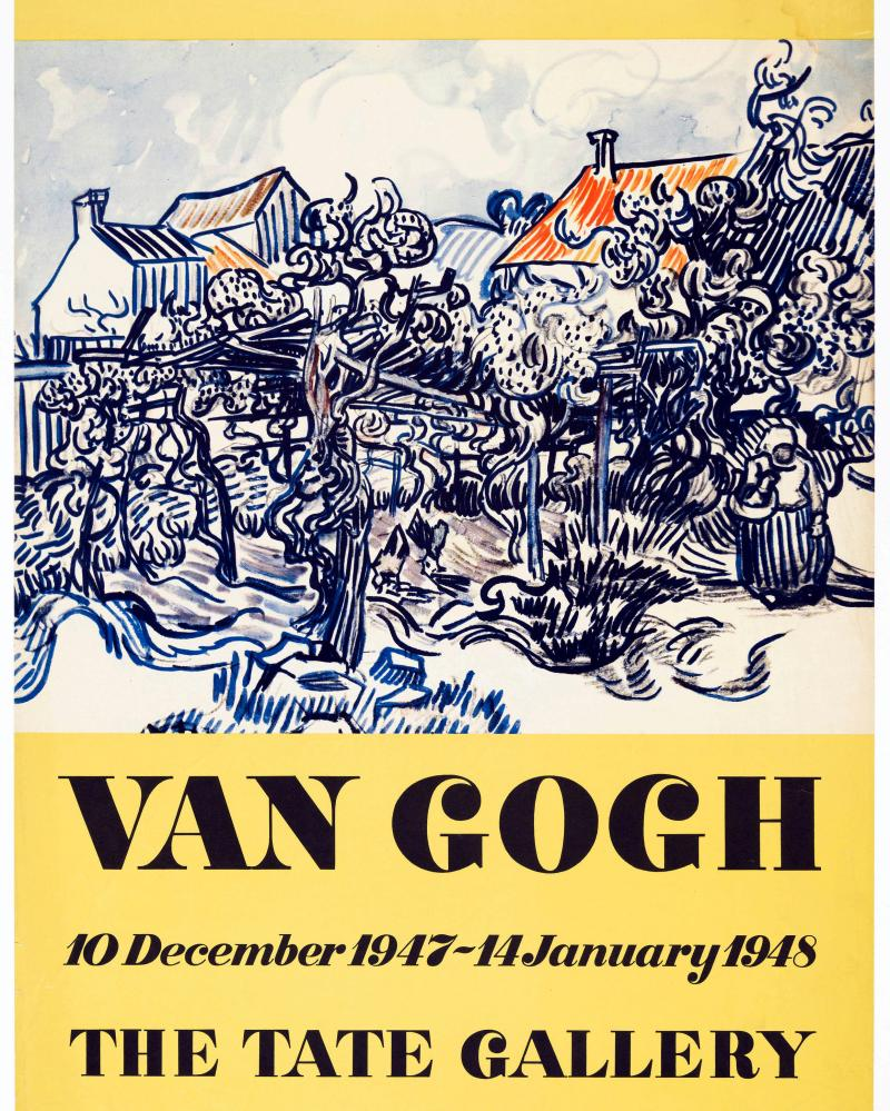 A Vincent Van Gogh exhibition poster dating from 1947.