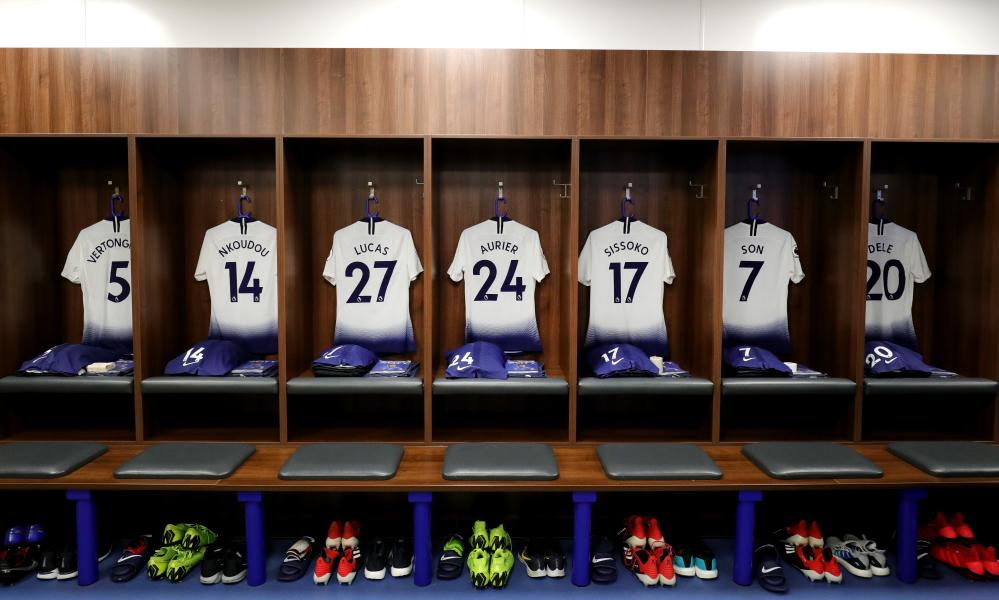 The Tottenham dressing-room at Leicester