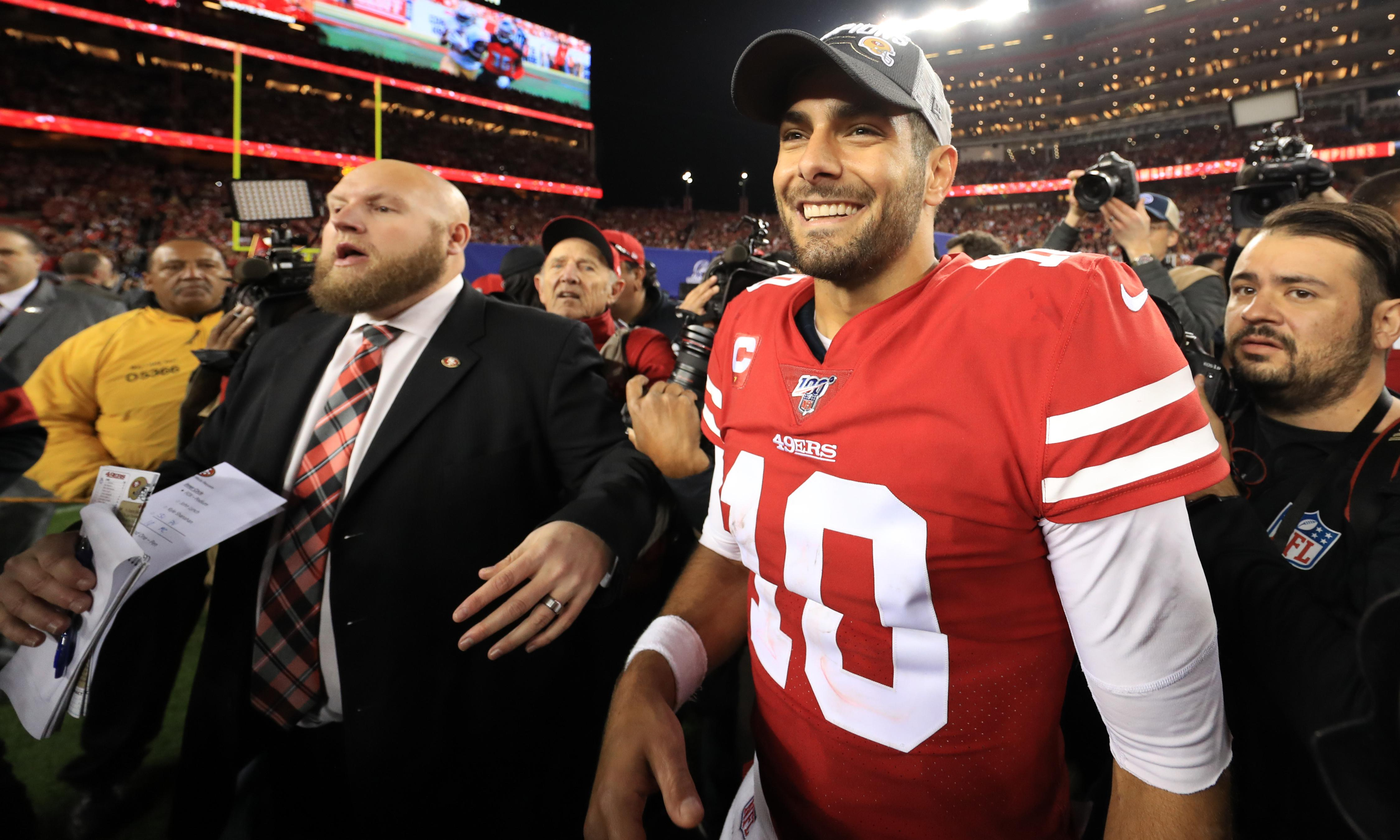 Eight passes, 0 TDs. Could Jimmy Garoppolo's Super Bowl path have been any easier?