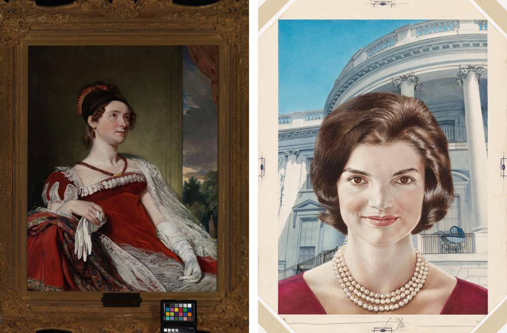 Louisa Adams and Jacqueline Kennedy