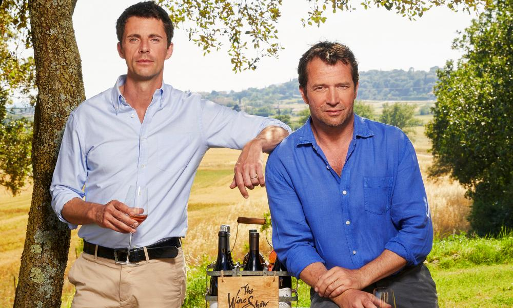 Nice work if you can get it … Matthew Goode and James Purefoy on The Wine Show.