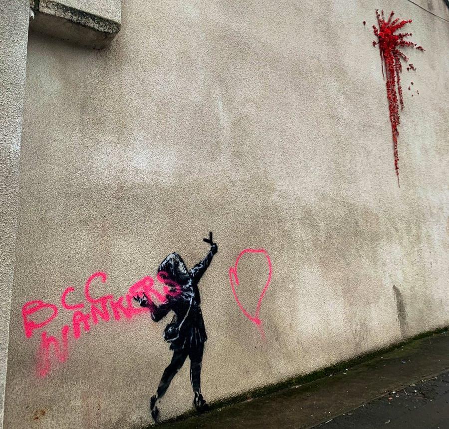 Banksy artwork in Bristol is vandalised days after appearing