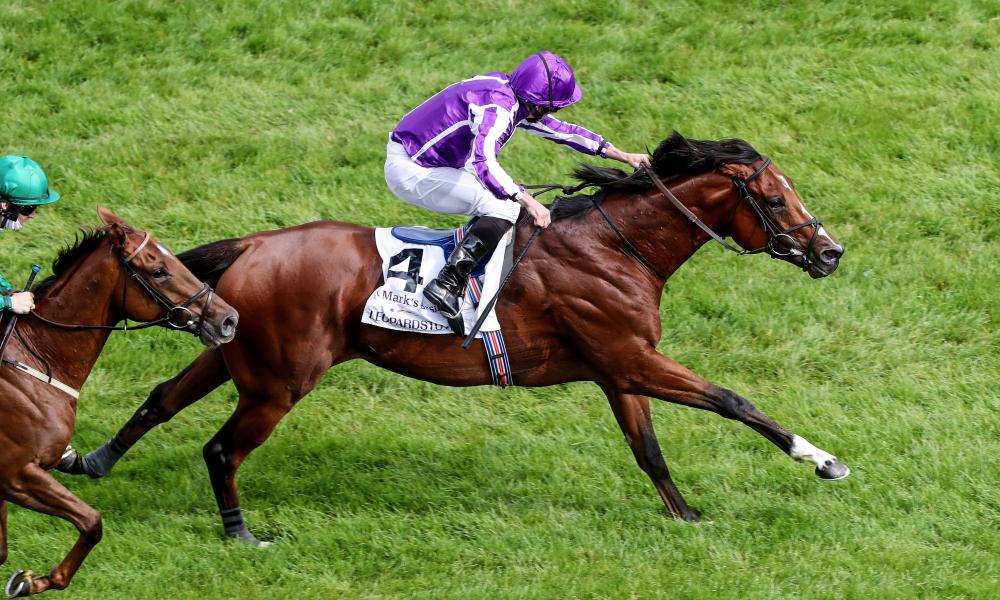 St Mark's Basilica comes home to win the Irish Champions Stakes.