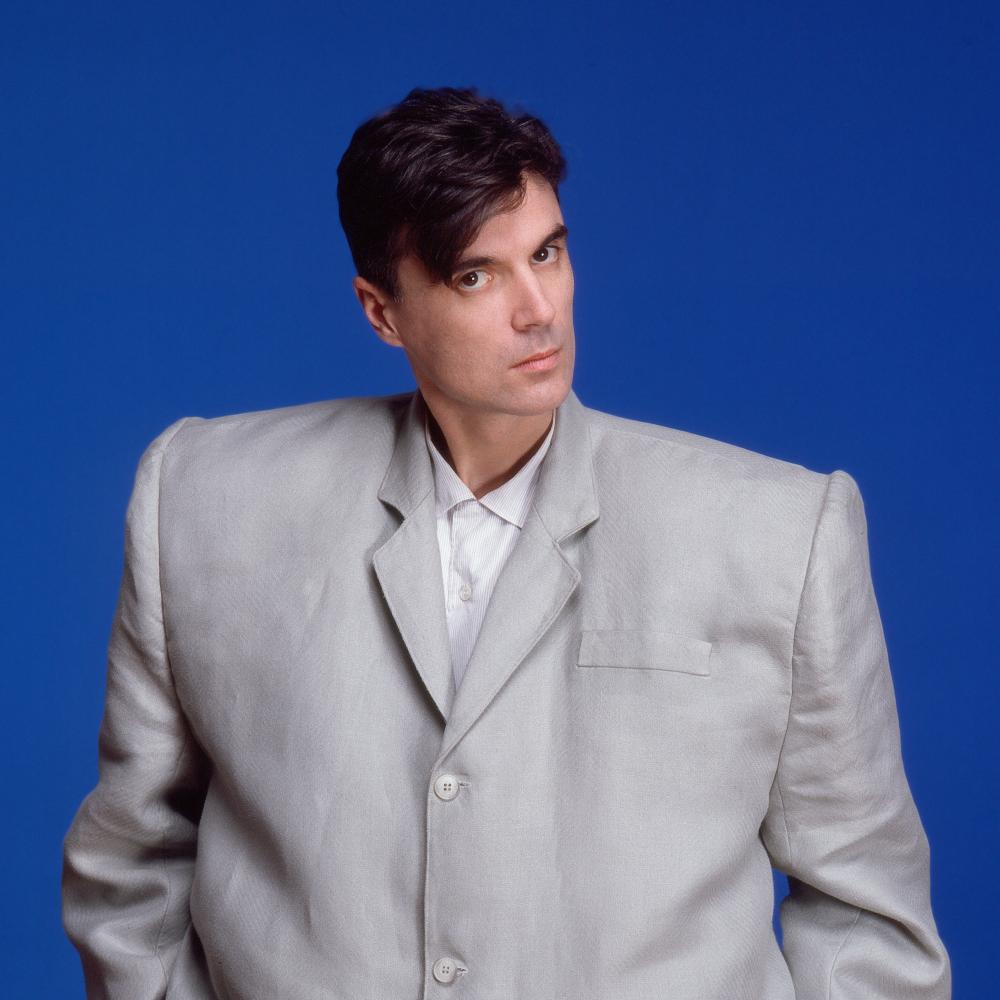 David Byrne in his oversized suit