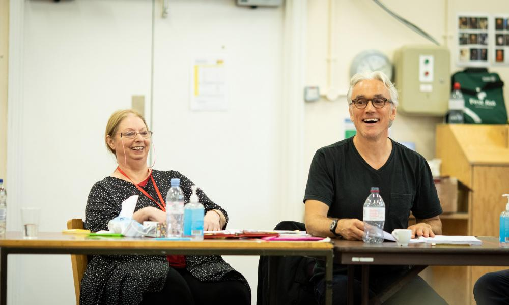 Hilary Mantel and Ben Miles in rehearsal for The Mirror and the Light.