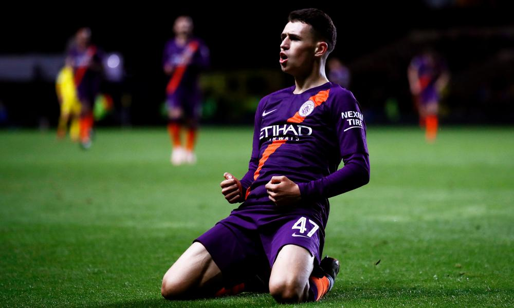 Phil Foden scored for Manchester City at Oxford in the Carabao Cup last month.