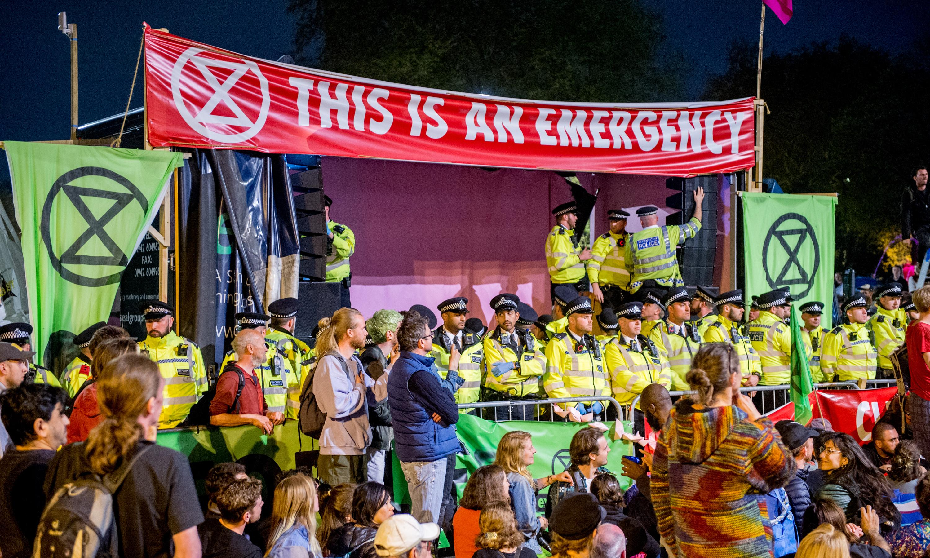 Extinction Rebellion activists convicted of public order offences