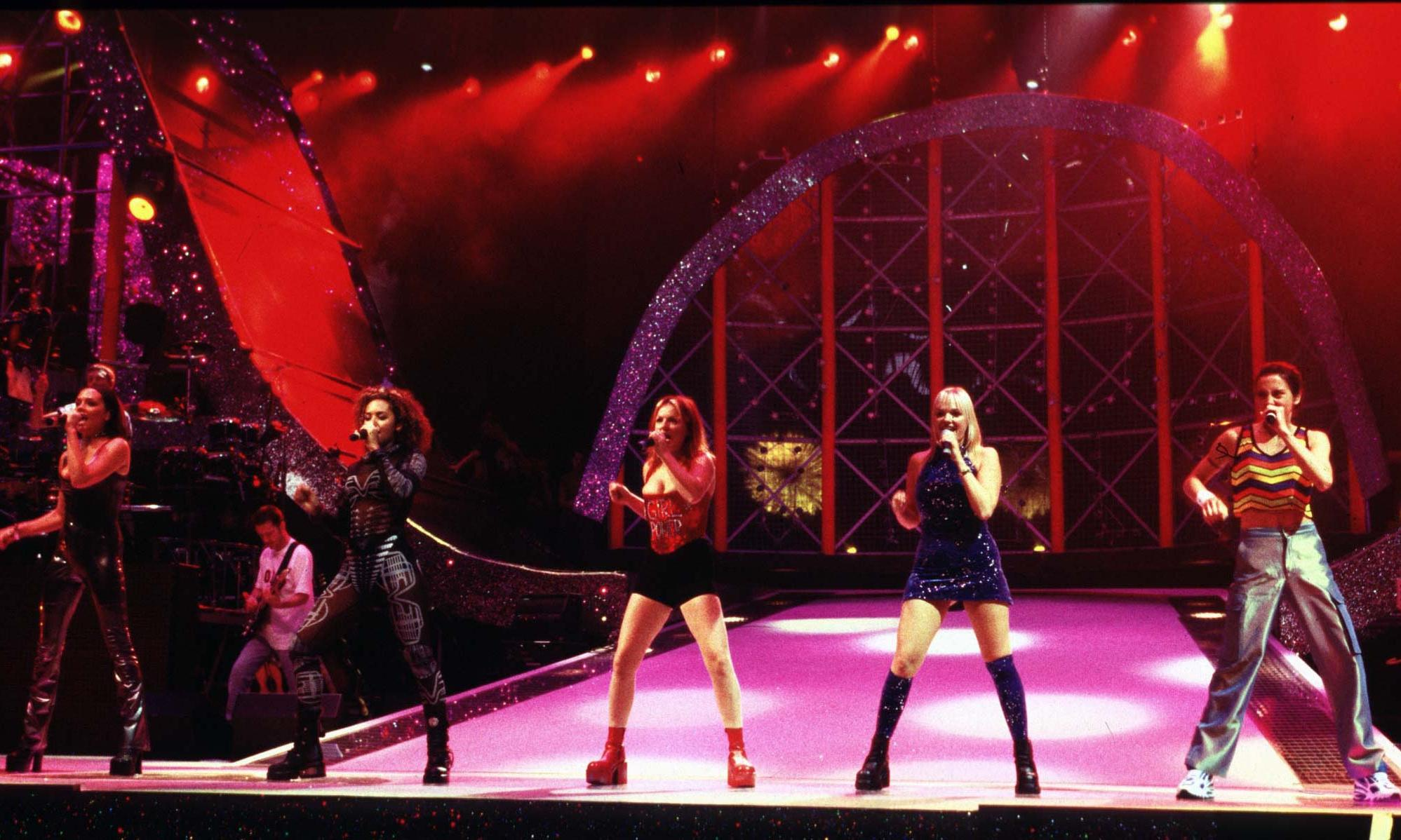 'Tens of thousands of tots empty their lungs': relive the Spice Girls' first tour