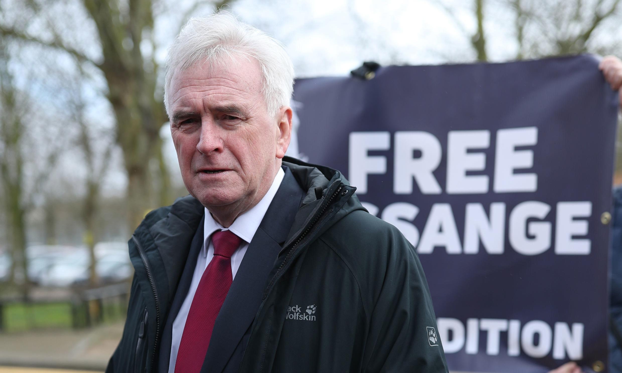 Julian Assange case is the Dreyfus of our age, says John McDonnell