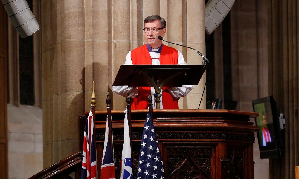 Sydney Anglican Archbishop Glenn Davies speaks during a church service in 2016.
