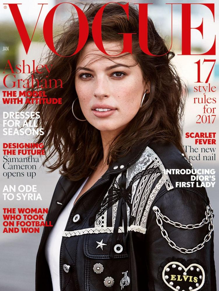 Ashley Graham on the cover of Vogue 2017.