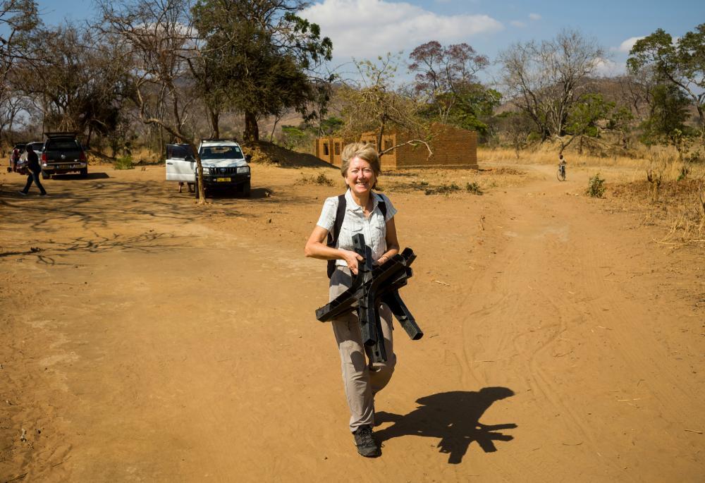 Sarah Boseley in Malawi, 2019.
