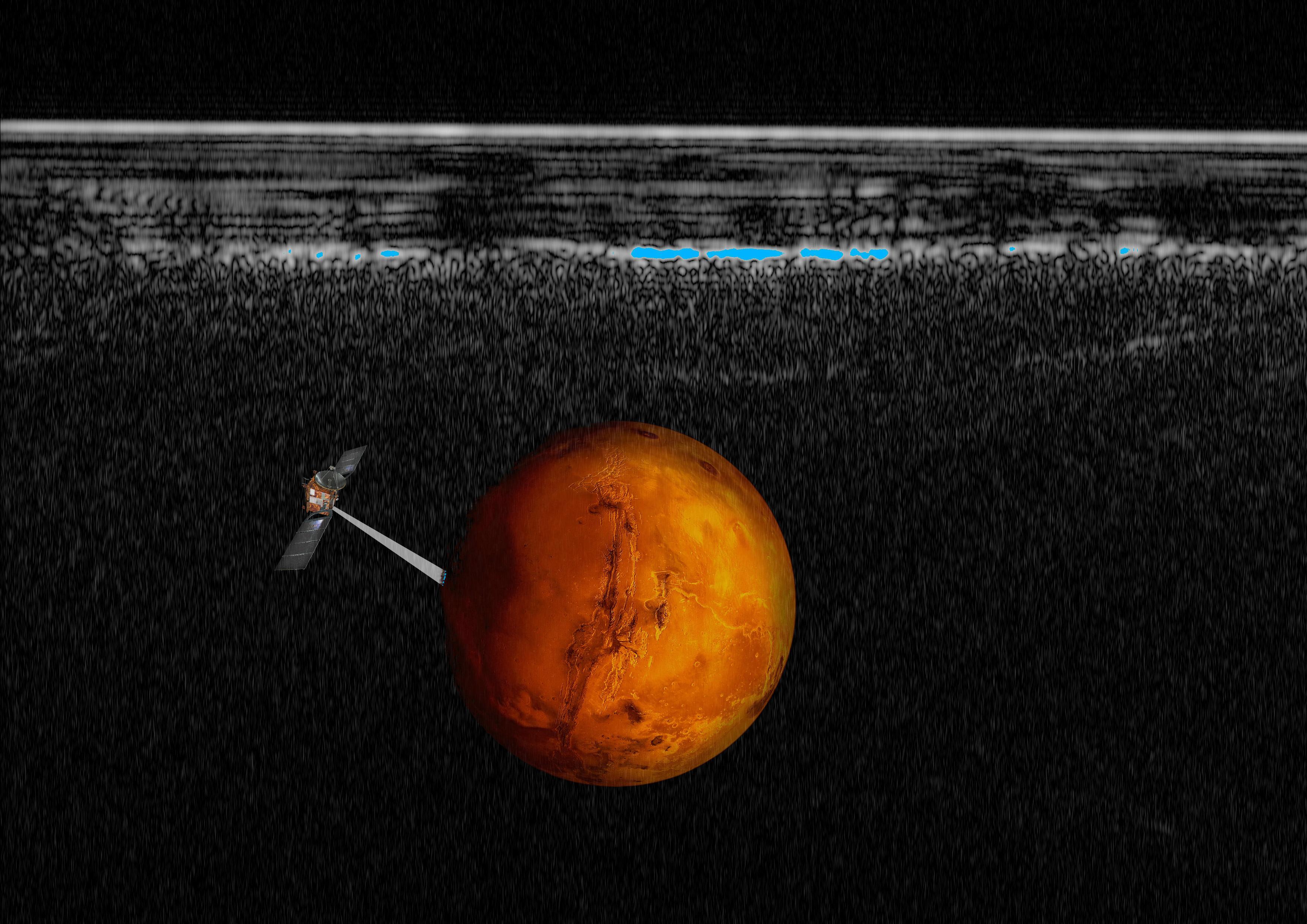 Mars: huge underground lake raises prospects of life on planet, astronomers say