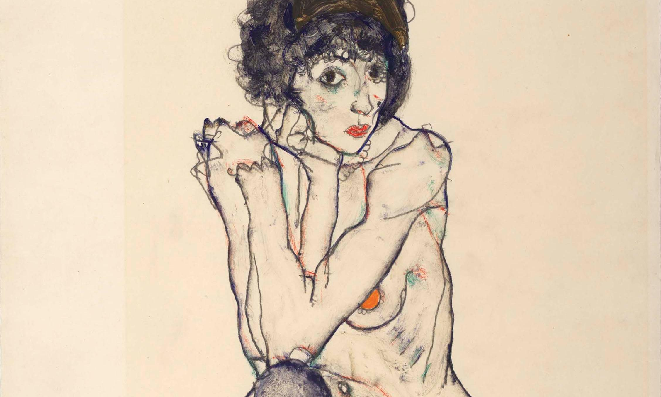 Egon Schiele's Seated Female Nude … skill and sensuality