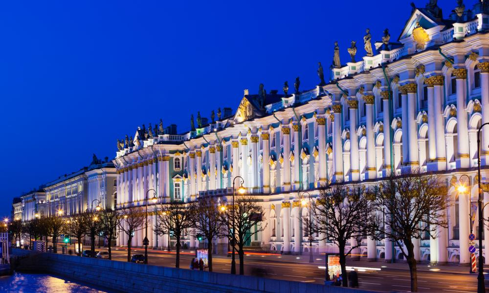 The Winter Palace and Hermitage Museum.