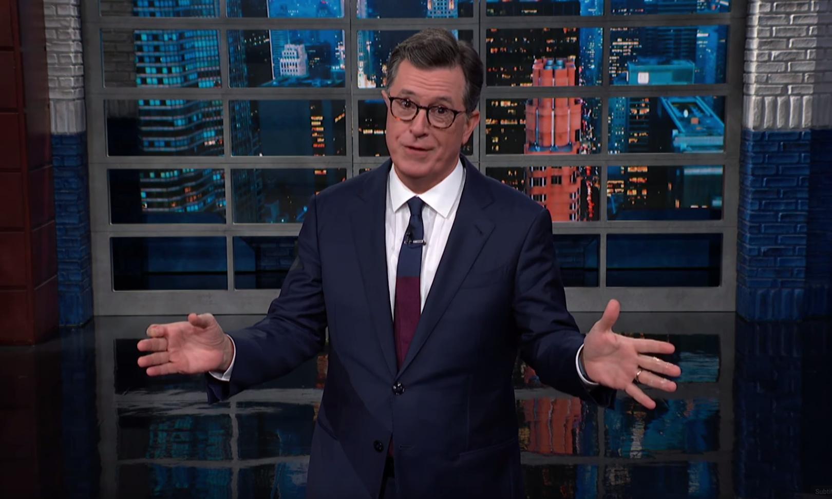 Stephen Colbert on Bolton: 'Another Trumpling bites the dumpling of dirt'
