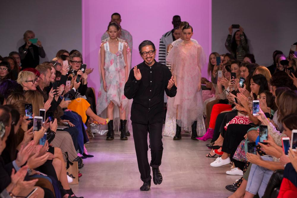 The designer at his resort collection in May 2018 held in Sydney.