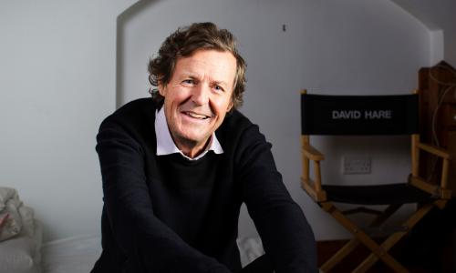 David Hare - photographed in his writing studio in North London