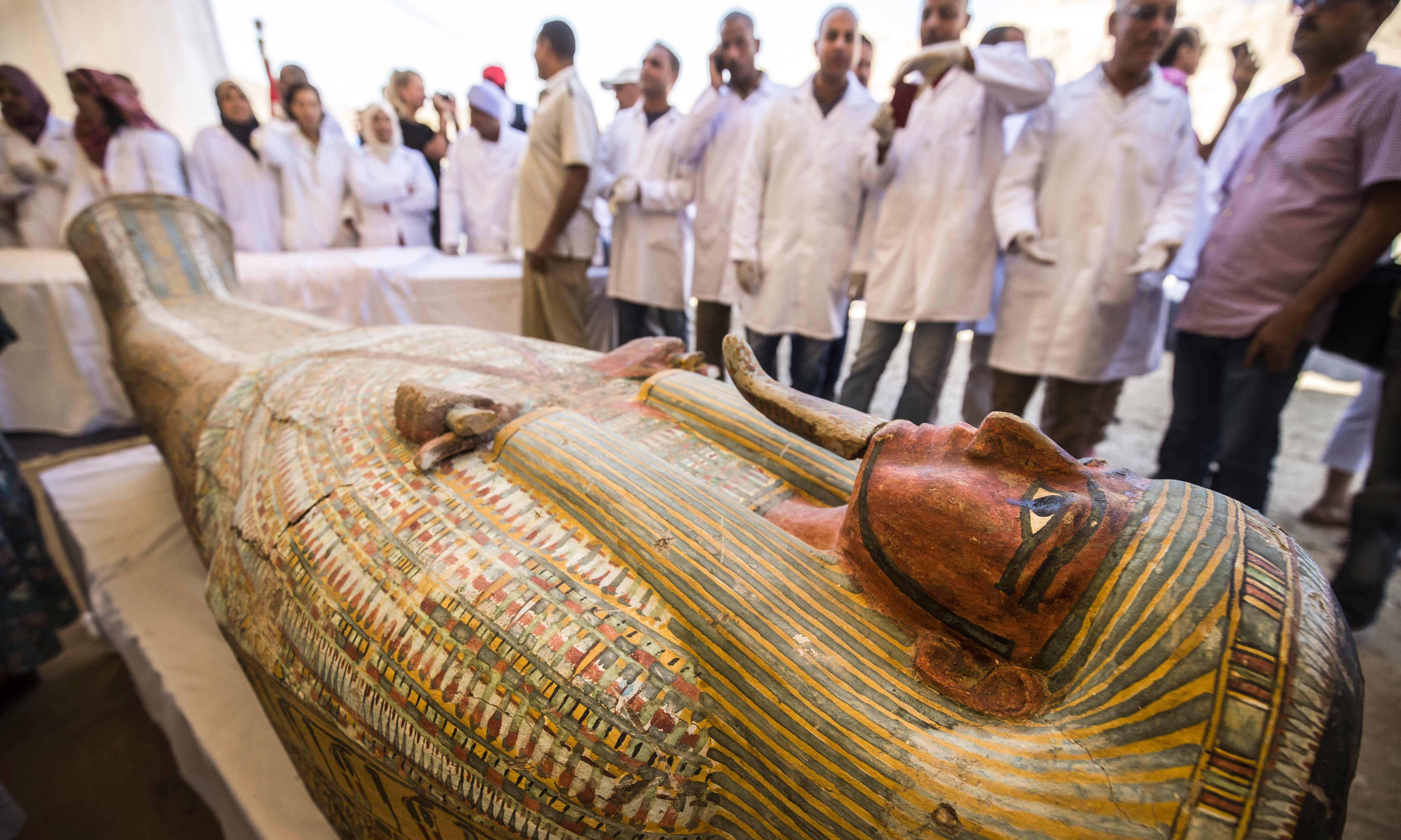 Archaeologists discover 30 ancient coffins in Luxor