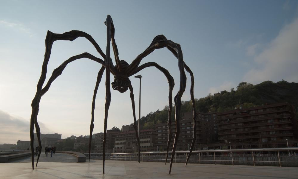 One of Louise Bourgeois's spiders - fashion-approved art.