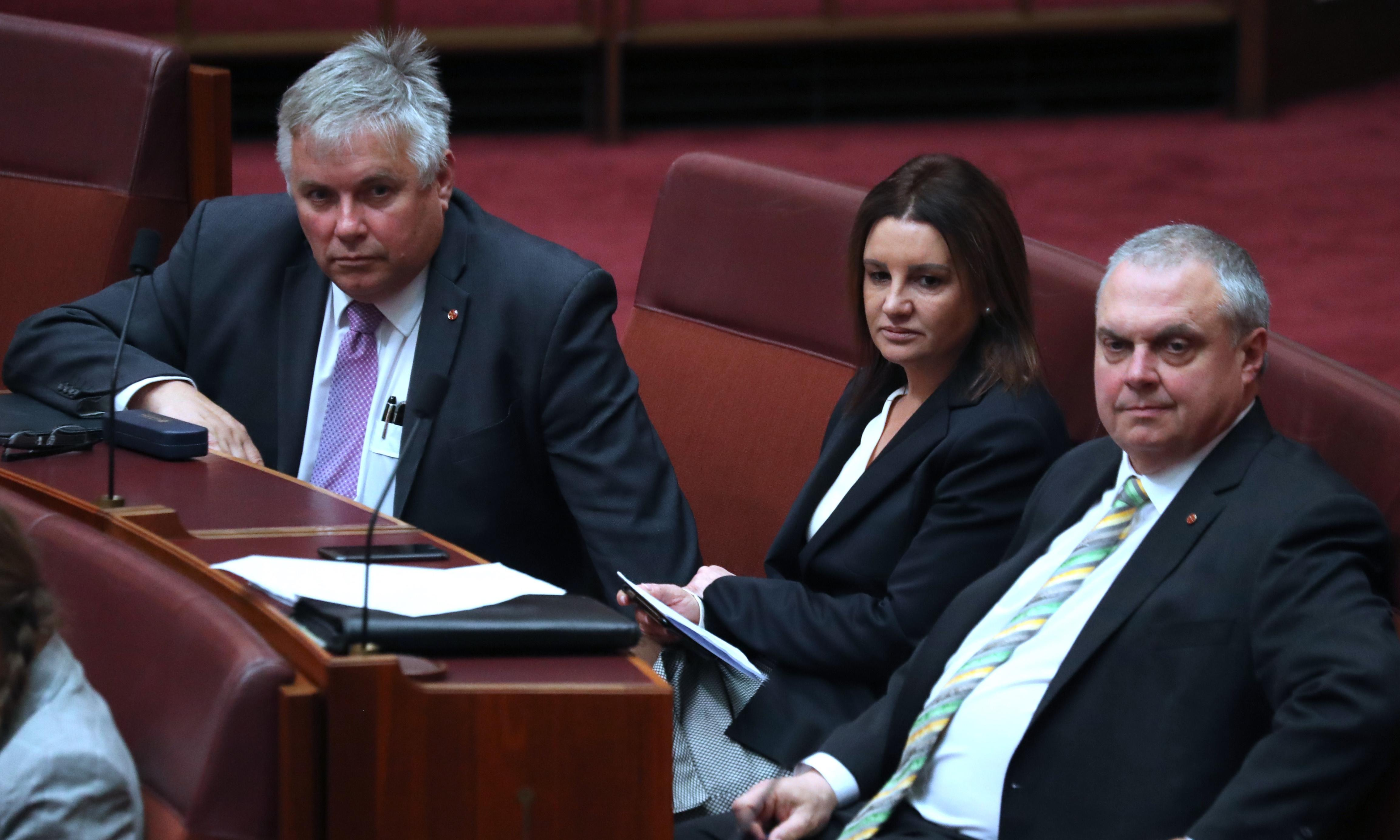 Jacqui Lambie and Rex Patrick accuse John Setka of intimidation over vote on union bill