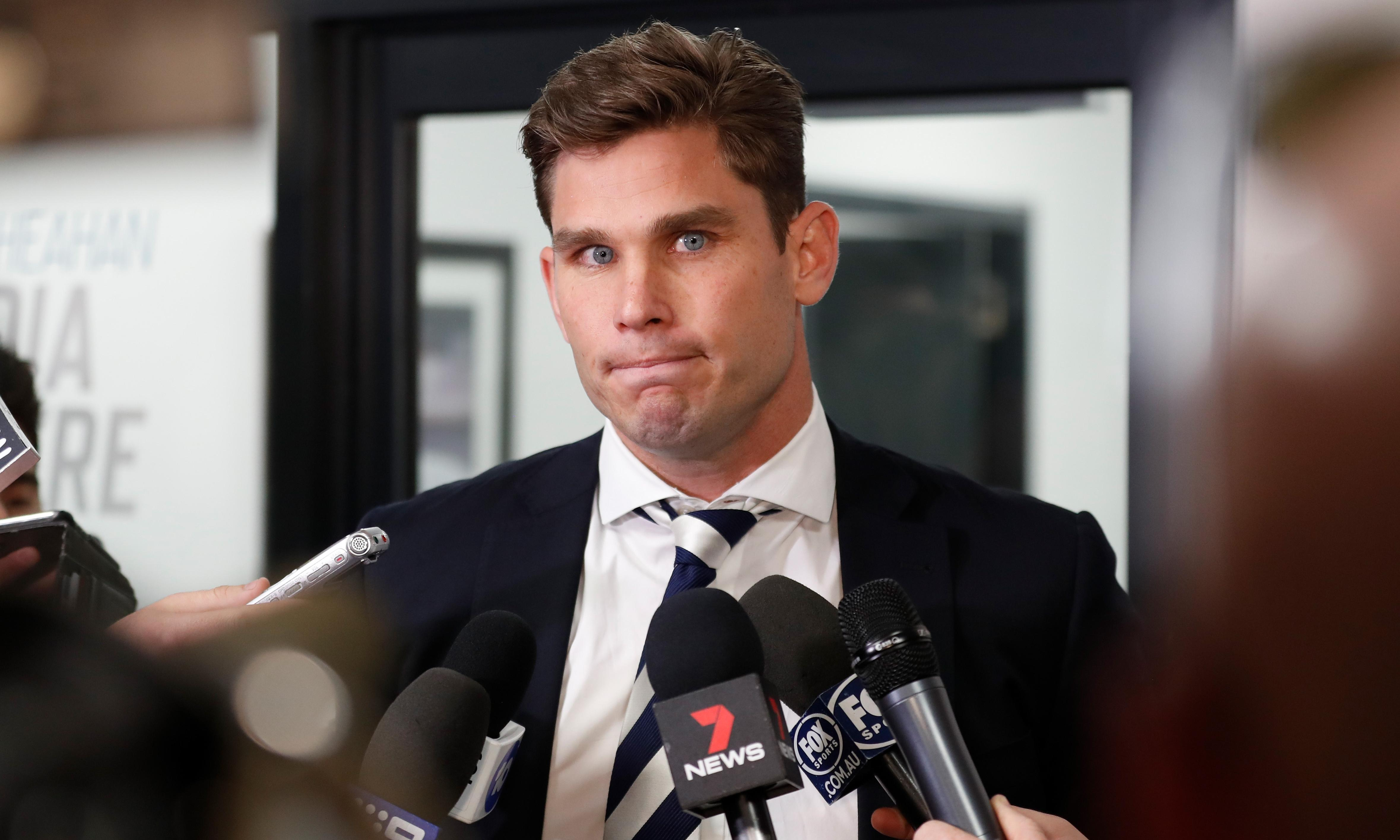 Geelong coach admits Tom Hawkins has 'issue' with striking after AFL ban upheld