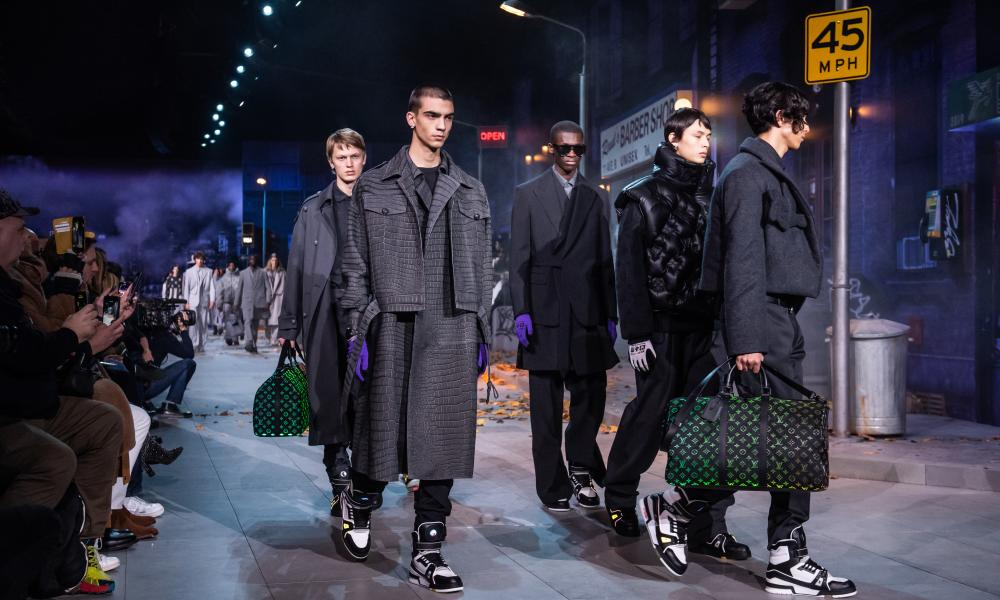 The finale of the Louis Vuitton menswear show in Paris