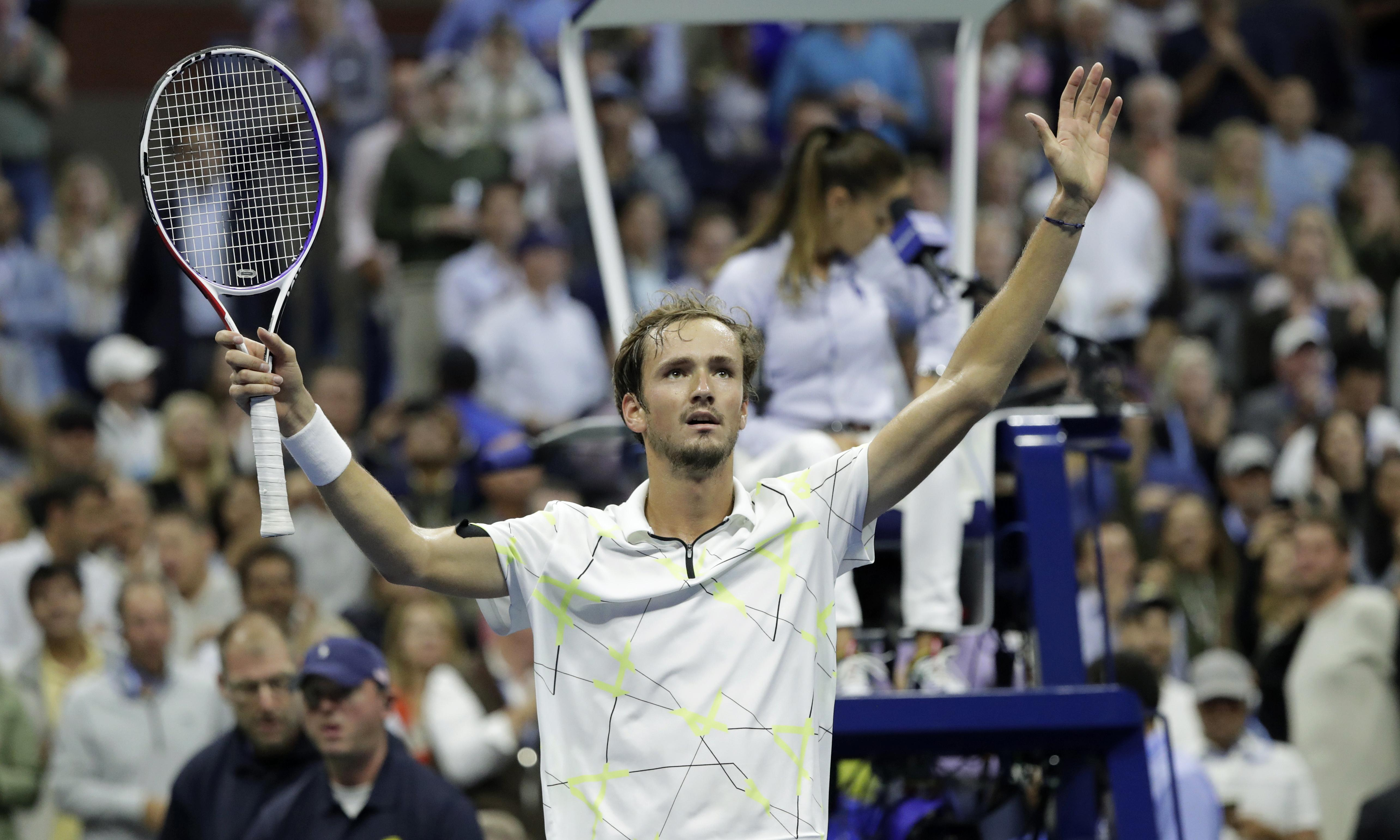 Medvedev swats aside Dimitrov to make US Open final as sublime run goes on