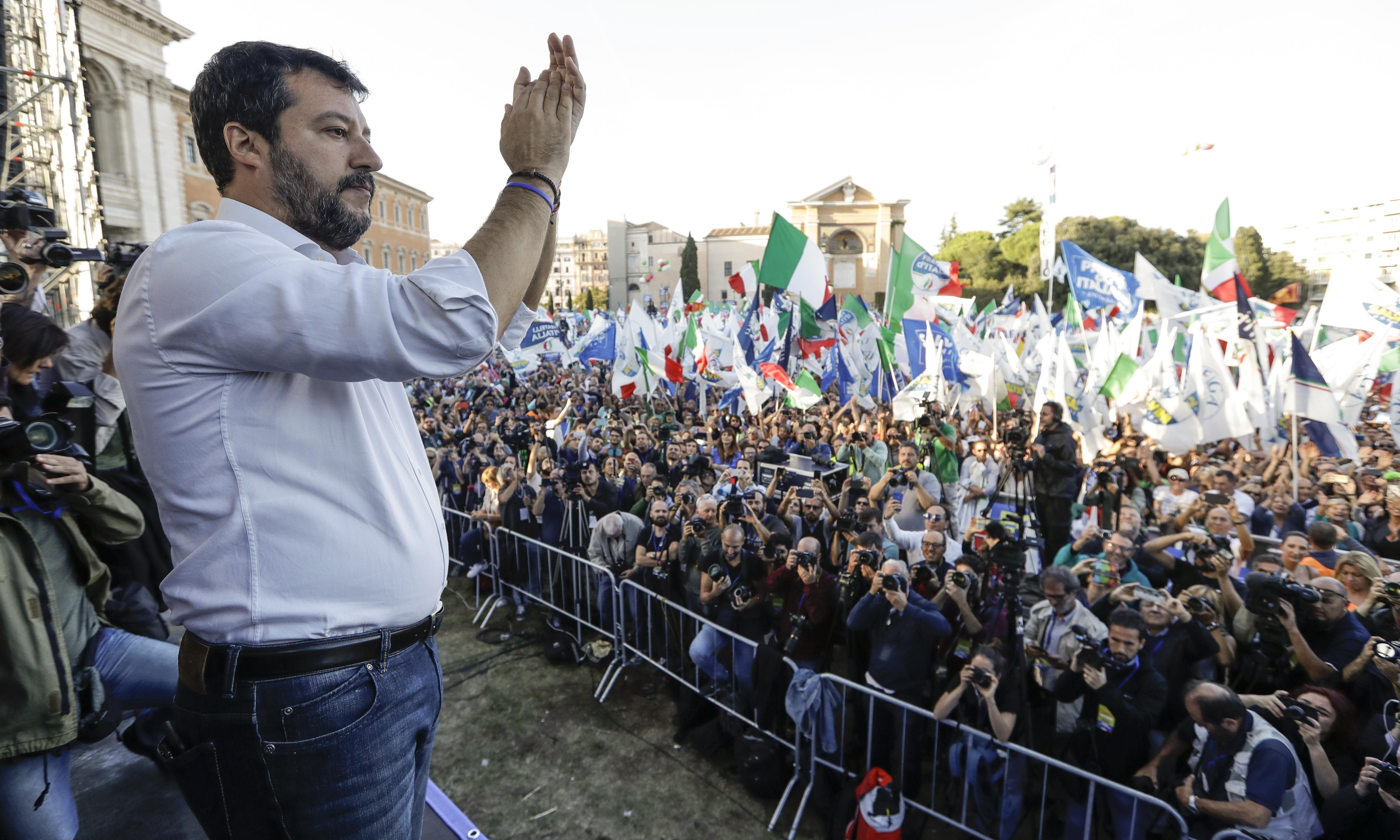 'Sardines against Salvini': Italians pack squares in protest against far right