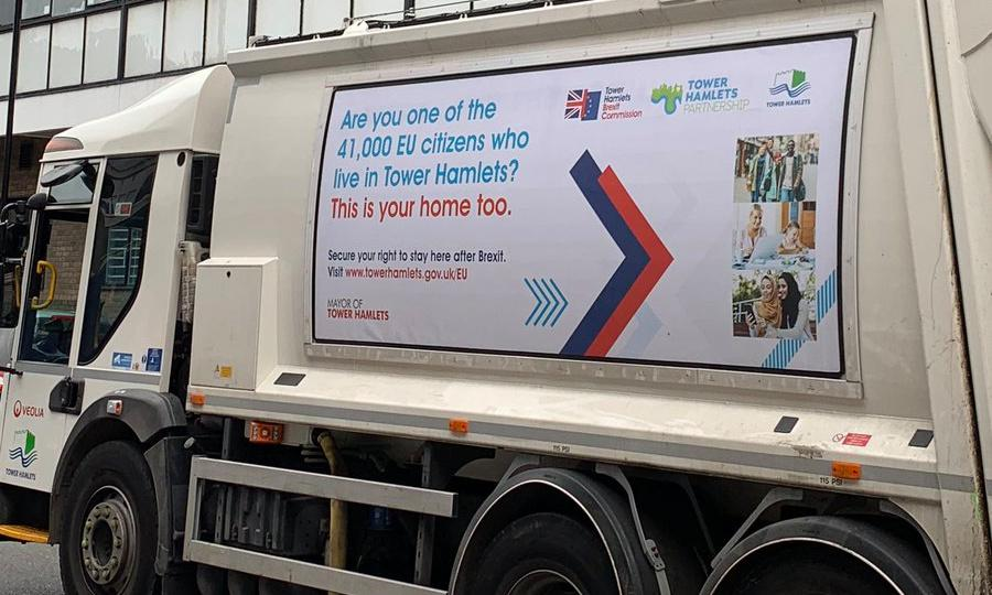 Rubbish spot: London council mocked for placement of Brexit posters