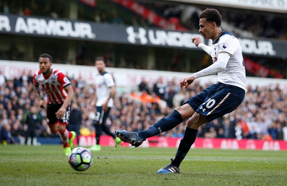 Tottenham's Dele Alli scores from the penalty spot