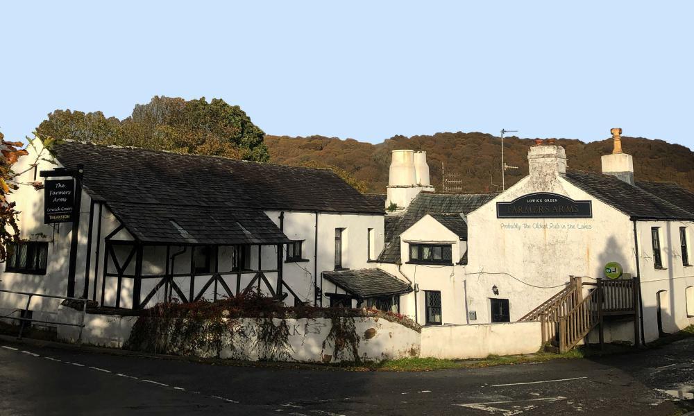 The Farmer's Arms inn in Cumbria's Crake Valley