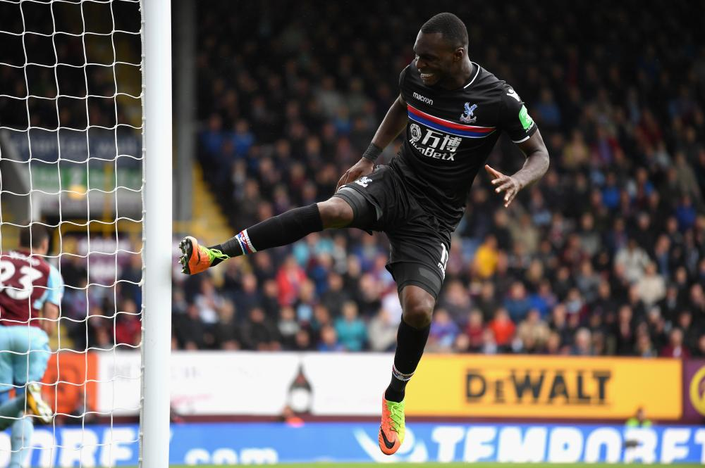 Benteke reacts after missing a chance.