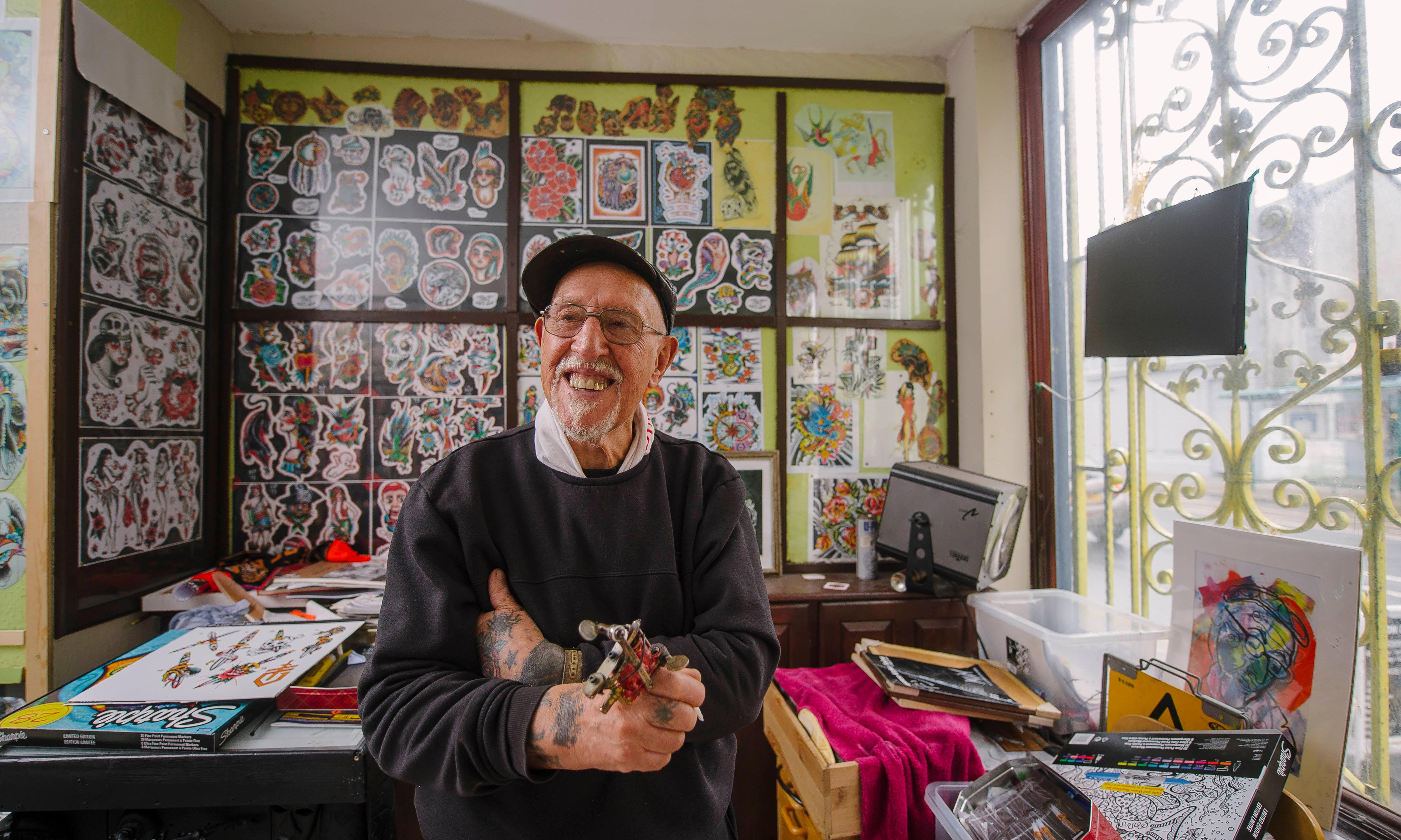 Britain's oldest tattooist: 'I've covered around 28 acres of skin'