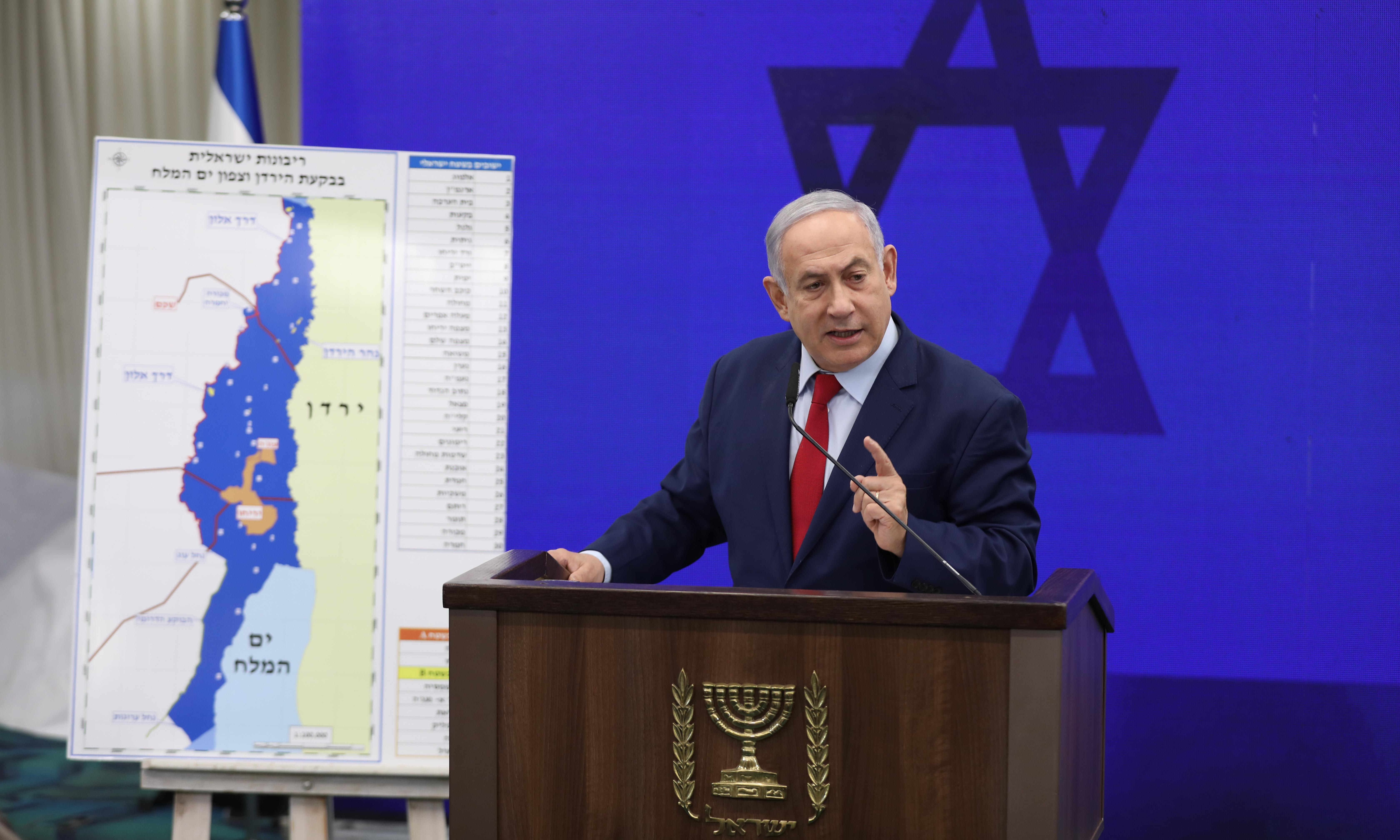 Netanyahu vows to annex large parts of occupied West Bank