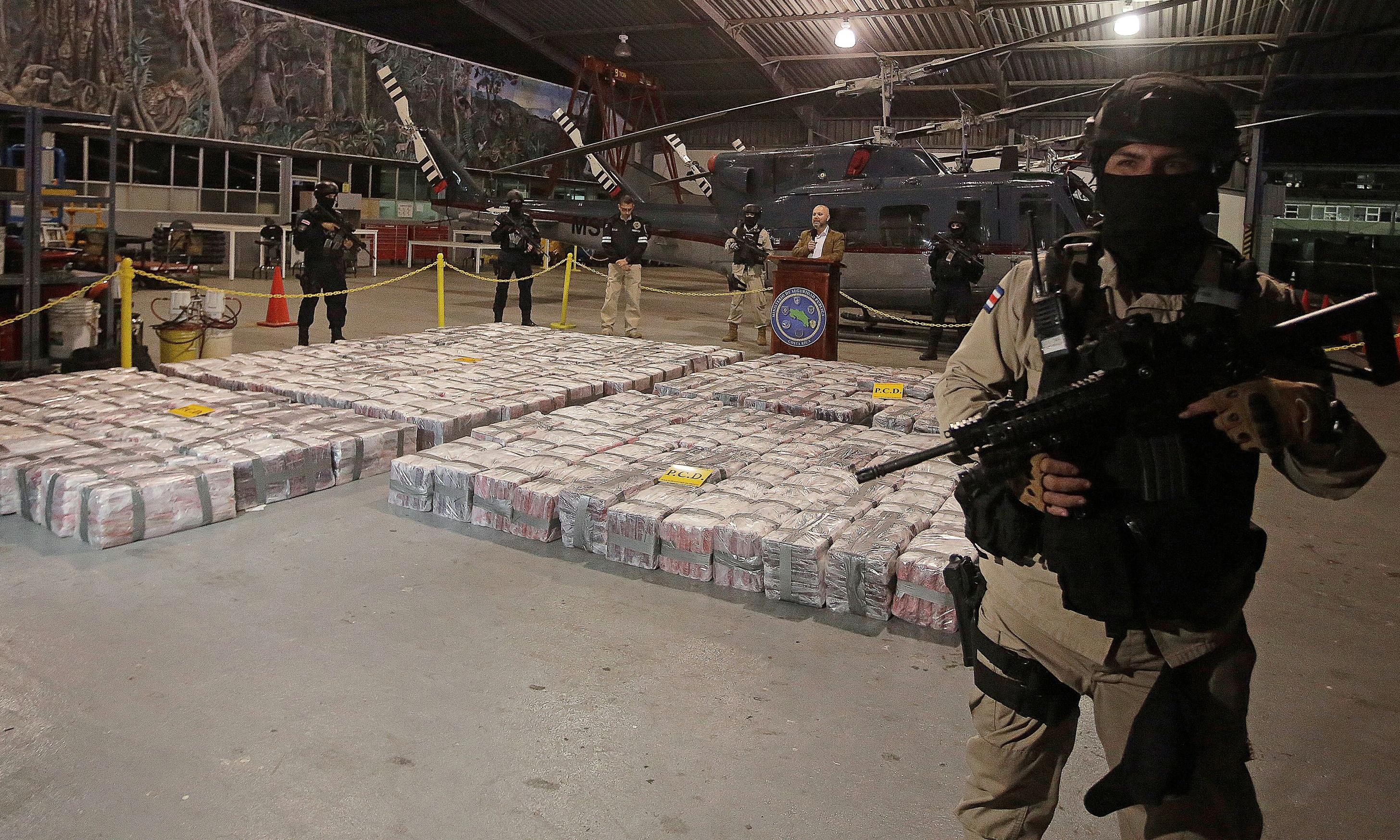 Costa Rica's largest drugs bust nets five tonnes of cocaine bound for Netherlands