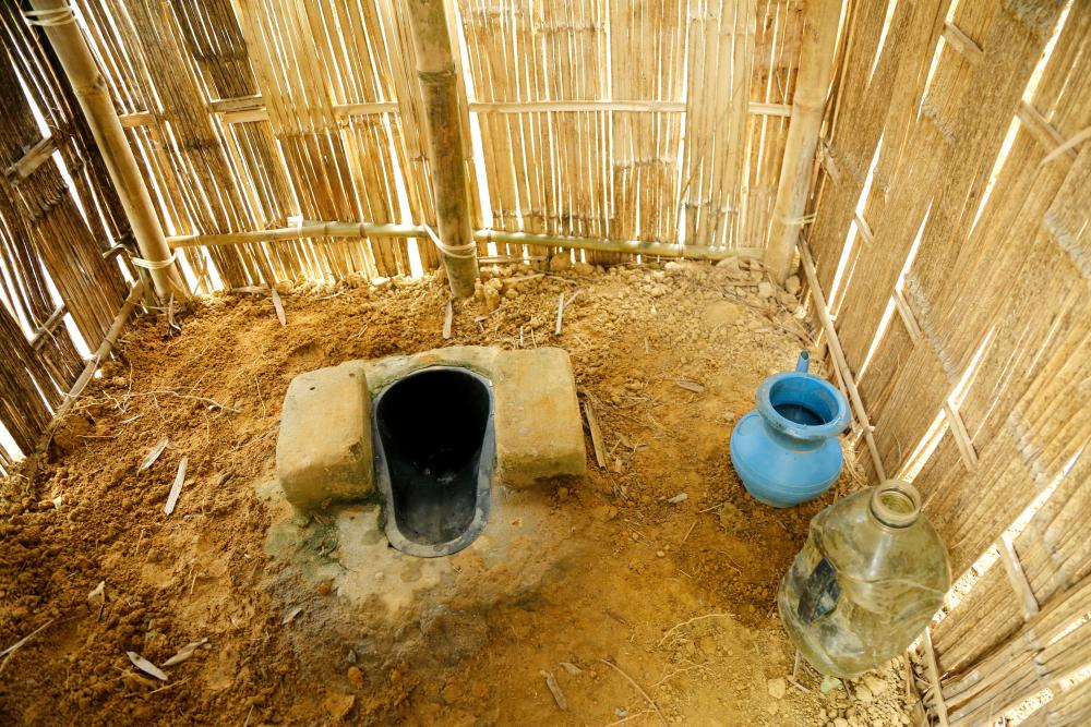 Tea-pickers at the Gulni tea estate now have use of a toilet.