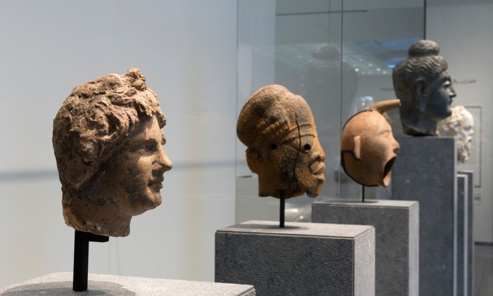 Artefacts of empire … exhibits in the museum.