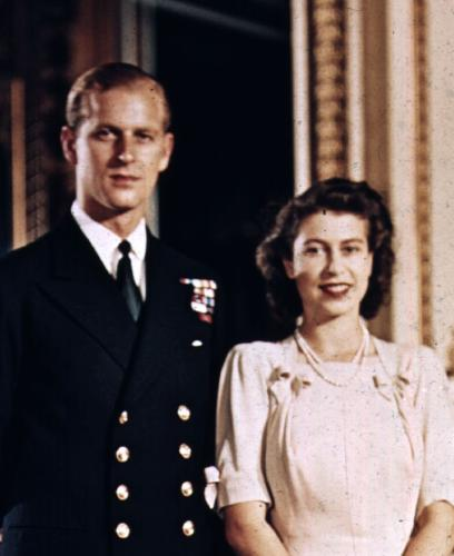 Prince Philip and Princess Elizabeth shortly before their wedding.