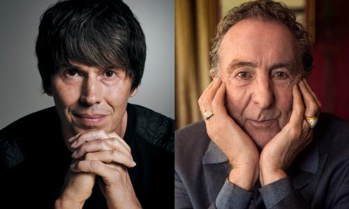 Brian Cox (left) and Eric Idle.