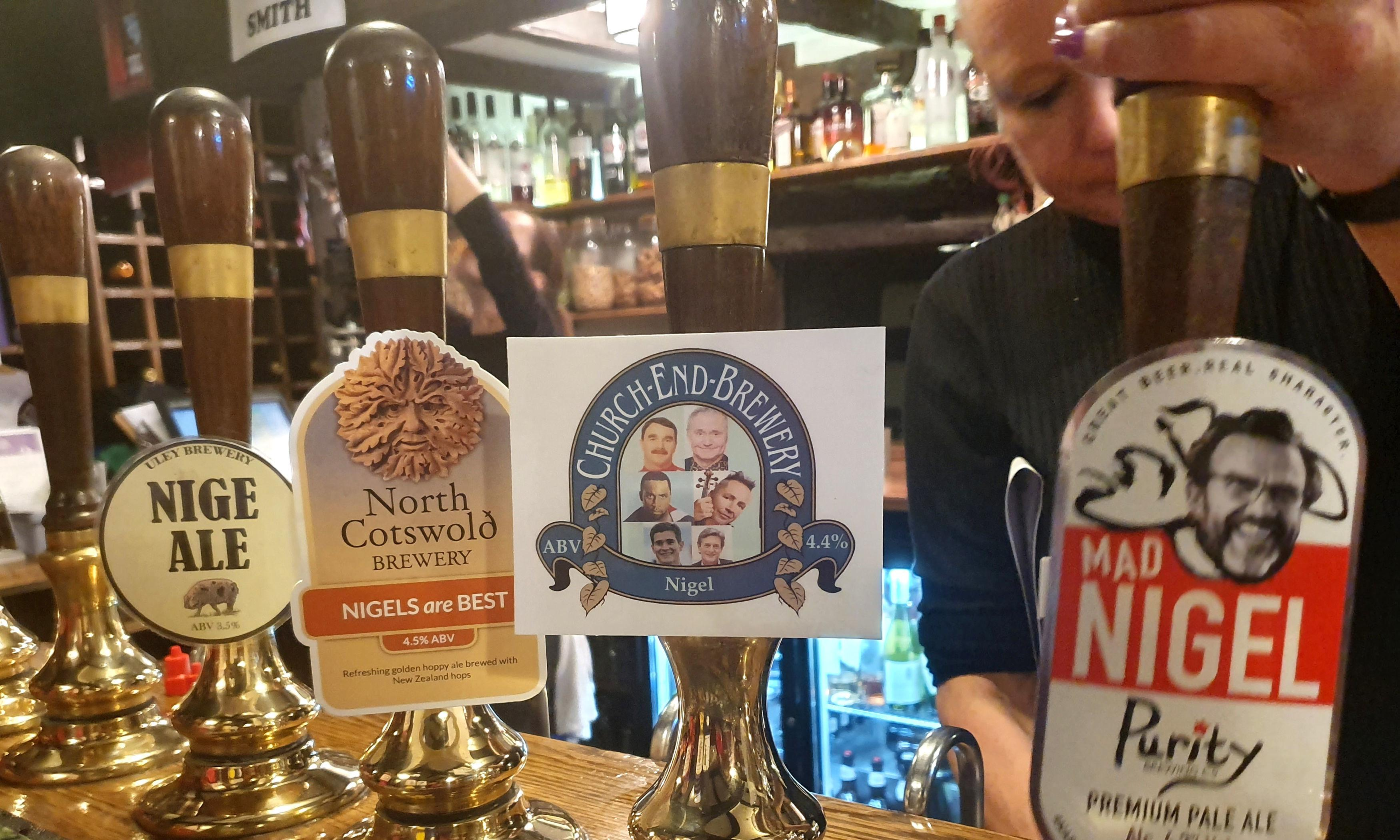 Pub welcomes 433 Nigels for party to 'celebrate Nigelness'